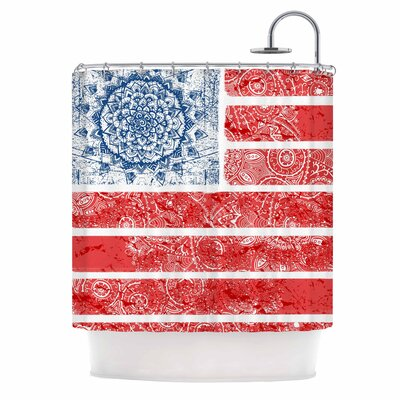 Americana Mandala Flag Shower Curtain