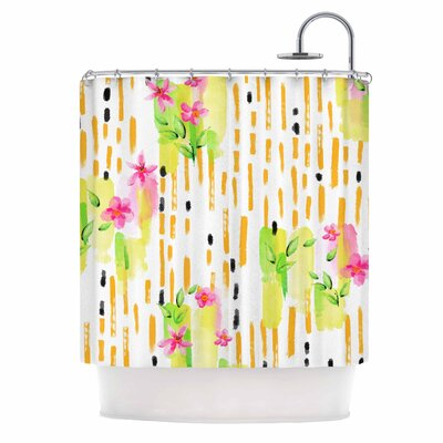 Watercolor Garden Shower Curtain