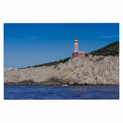 Happy Lighthouse Coastal Decorative Doormat