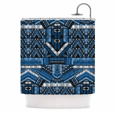 Festival Geo Illustration Shower Curtain