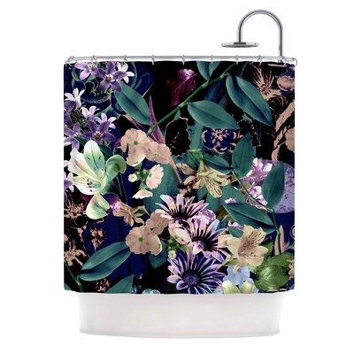 Midnight Garden Digital Shower Curtain