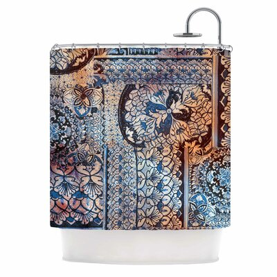 Italian Tiles Digital Shower Curtain