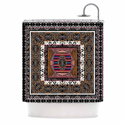 Tibet Mandala Illustration Shower Curtain