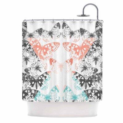 Geo Butterflies Illustration Shower Curtain