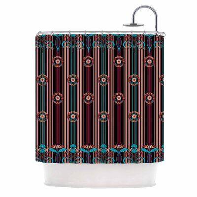 Nouveau Illustration Shower Curtain