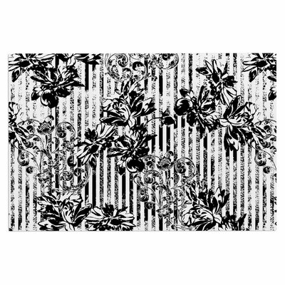 Stripes and Flowers Doormat