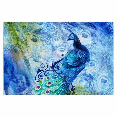 Blue Peacock Doormat