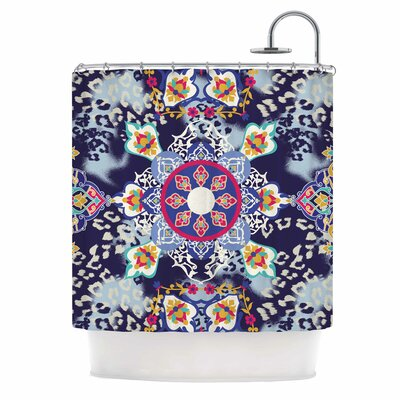 Eastern Medallion Vector Shower Curtain