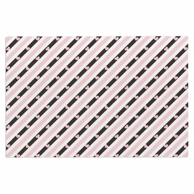 Pastel Stripe Heart Love Decorative Doormat