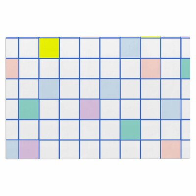 Pastel Windowpane Grid Doormat