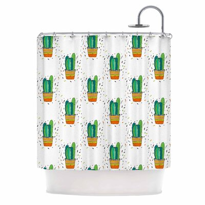 Cacti Cactus Fiesta Art Deco Sage Shower Curtain
