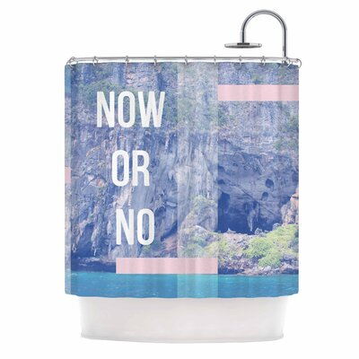 Now Or No Mixed Media Shower Curtain