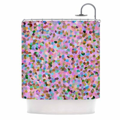 Candy Pink Confetti Shower Curtain