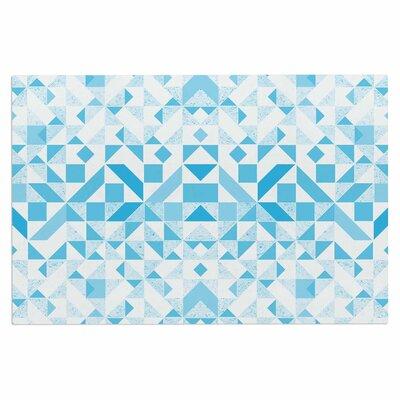 Light Blue Geometric Digital Decorative Doormat