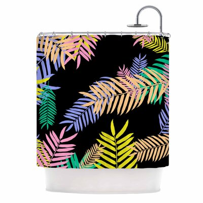 Tropical Palm 90S Art Deco Shower Curtain