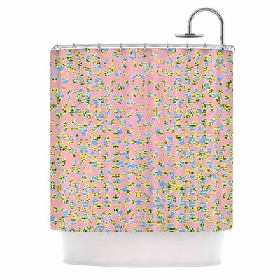 Peach Lepoard Shower Curtain