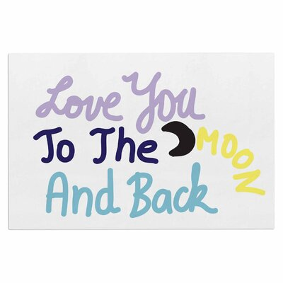 Love You to the Moon and Back Vector Decorative Doormat