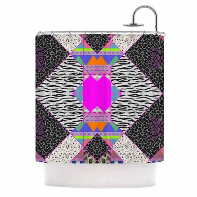 Zebra Native Pink Tribal Shower Curtain