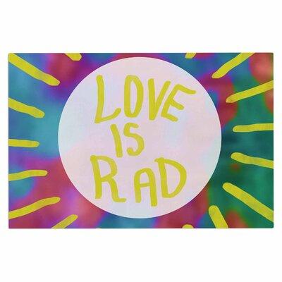 Love is Rad Typography Decorative Doormat