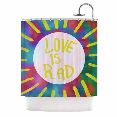 Love is Rad Tyopgraphy Shower Curtain