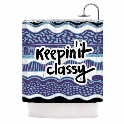Keepin it Classy Purple Typography Shower Curtain