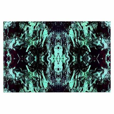 Abstract Aqua Black Doormat