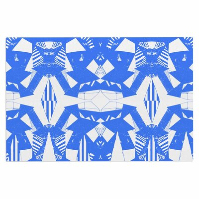 Azure Geometric Art Deco Decorative Doormat
