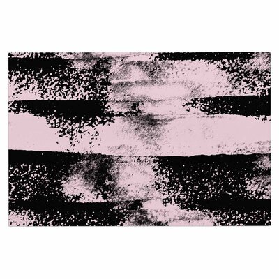 Pink Black Abstract Doormat