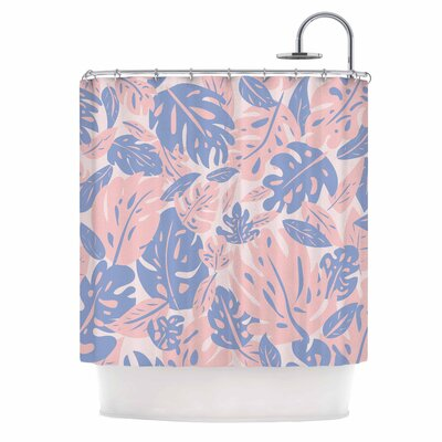 Rose Quartz & Serenity Jungle Shower Curtain