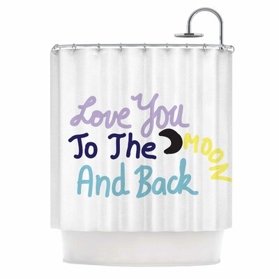Love You to the Moon and Back Vector Shower Curtain