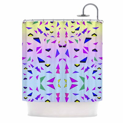 Tropical Candy Rainbow Digital Shower Curtain