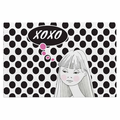 Xoxo Pop Art Polka Dot Girl Doormat