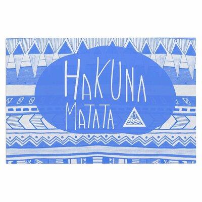 Hakuna Matata Azure Blue Doormat