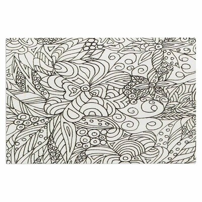 Zentangle Garden Zengle Decorative Doormat