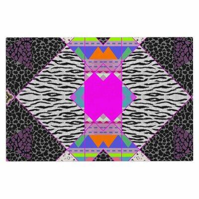 Zebra Native Pink Tribal Decorative Doormat