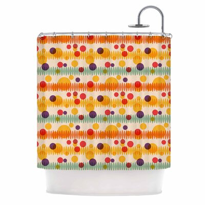 Bubble Stripes Fun Shower Curtain