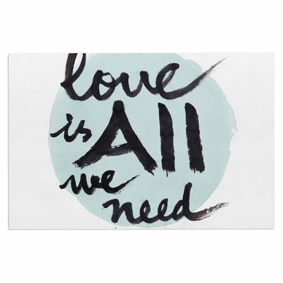 'Love is All We Need' Doormat