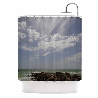 Clouds Coastal Photography Shower Curtain