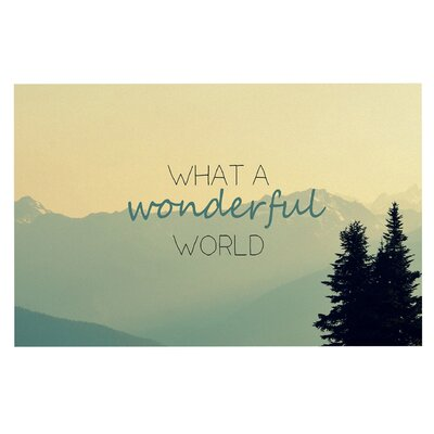 What a Wonderful World Doormat