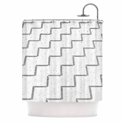 Speckled Zigzag Shower Curtain