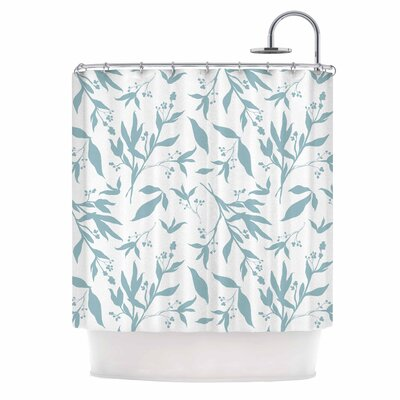 Leafy Silhouettes Painting Shower Curtain