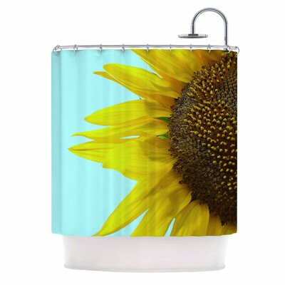 Sunflower Mint Shower Curtain