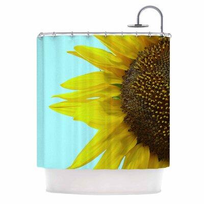 Sunflower Mint Shower Curtain