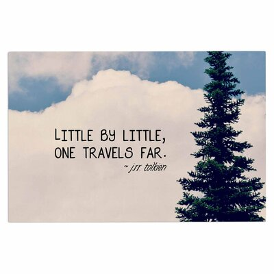 Little by Little Clouds Decorative Typography Doormat