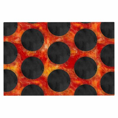 Volcanic Black Holes Polkadot Decorative Doormat