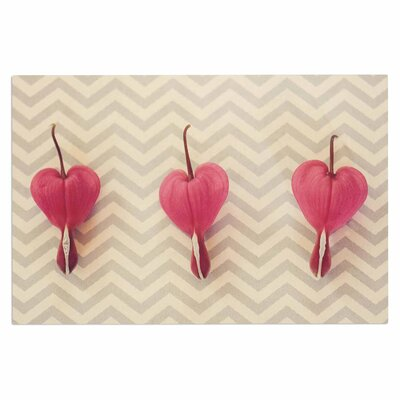 Pink Heart with Chevrons Doormat
