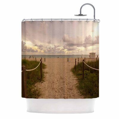 Walkway to Heaven Coastal Photography Shower Curtain