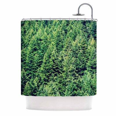Summertime Woodlands Shower Curtain