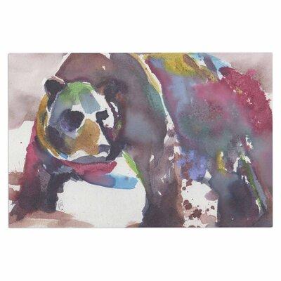 Grizzly Bear Watercolor Doormat