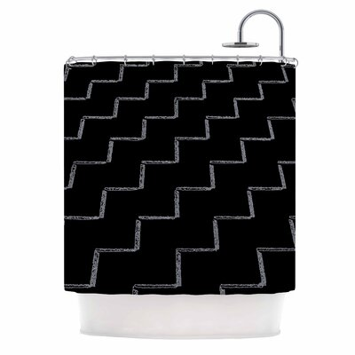 Zigzags Night Shower Curtain